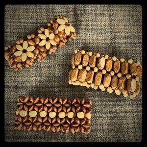 Jewelry - Boho style wooden bracelets ☀️🌵
